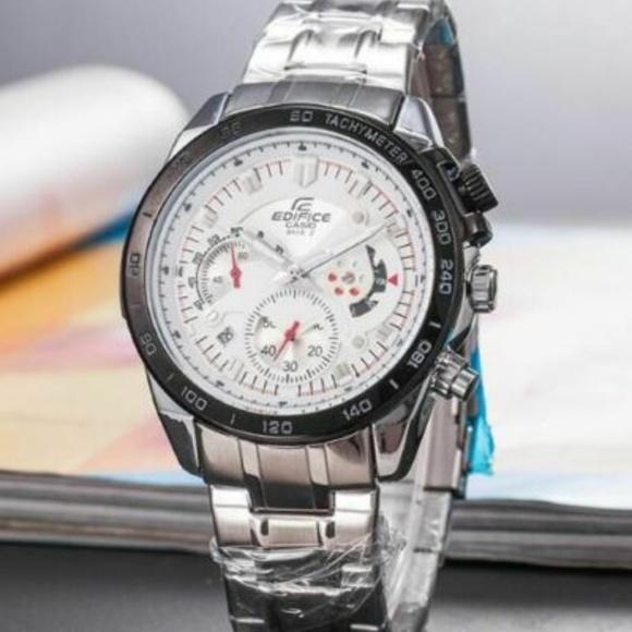 Casio Other - Casio Edifice Chrono Stainless Steel Quartz Watch
